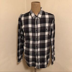 ee2f90b219 Vans black and white button up men's